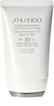 Shiseido Sun Care Urban Environment UV Protection Cream ochranný krém na obličej a tělo SPF 30