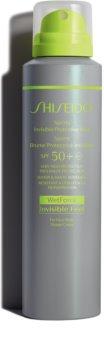 Shiseido Sun Care Sports Invisible Protective Mist spray pentru plajă SPF 50+