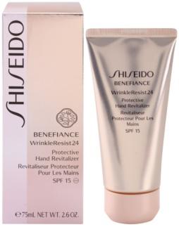 Shiseido Benefiance WrinkleResist24 regeneráló védőkrém kézre SPF15