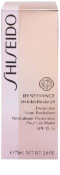 Shiseido Benefiance WrinkleResist24 cremă de mâini pentru protecție și regenerare SPF 15