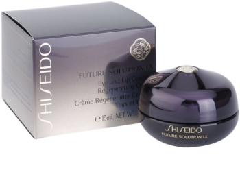 Shiseido Future Solution LX regenerační krém s vyhlazujícím účinkem na oční okolí a rty