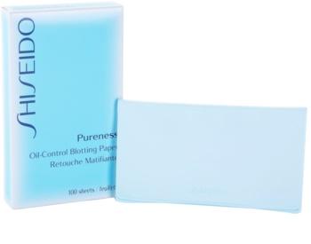 Shiseido Pureness papírky na zmatnění pro smíšenou a mastnou pleť