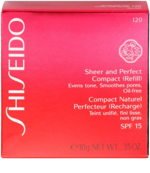 Shiseido Base Sheer and Perfect Ersatzfüllung mit kompaktem Puder-Make up LSF 15
