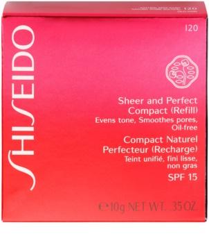 Shiseido Base Sheer and Perfect kompaktní pudrový make-up náhradní náplň SPF 15