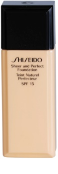 Shiseido Base Sheer and Perfect make up lichid  SPF 15