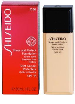 SHISEIDO BASE SHEER AND PERFECT tekutý make-up SPF 15  4448a42820e