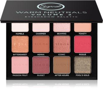 Sigma Beauty Warm Neutrals paleta farduri de ochi