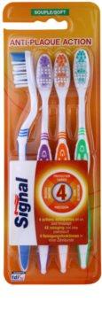 Signal Anti-Plaque Action szczoteczki do zębów soft 4 szt.