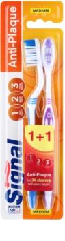 Signal Anti-Plaque zubné kefky medium 2 ks