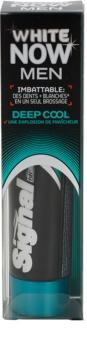 Signal White Now Men Deep Cool dentífrico para homens com efeito branqueador