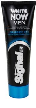 Signal White Now Men Super Pure dentífrico para homens com efeito branqueador