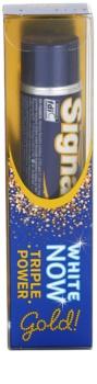 Signal White Now Triple Power Gold dentífrico com efeito branqueador