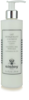 Sisley Cleansing Milk With Sage čisticí pleťové mléko pro mastnou a smíšenou pleť