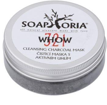 Soaphoria Organic Rengörande mask i puder med aktivt kol