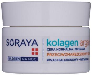 Soraya Collagen & Argan feuchtigkeitsspendende Creme gegen Falten mit Hyaluronsäure