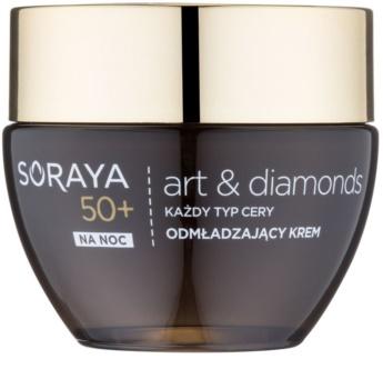 Soraya Art & Diamonds odmładzający krem na noc z proszkiem diamentowym