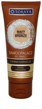 Soraya Beauty Bronze crema autobronceadora facial para pieles morenas
