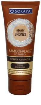 Soraya Beauty Bronze creme facial de autobronzeamento para tons de pele mais escuros