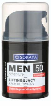 Soraya MEN Adventure 50+ creme com efeito lifting  para homens