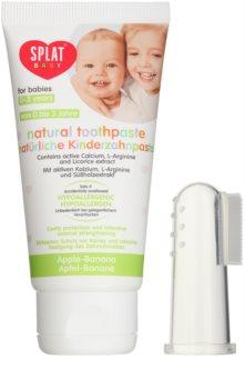 Splat Baby pasta de dentes natural com escova de massagem para crianças