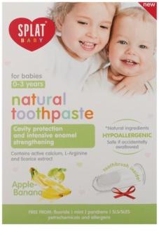 Splat Baby přírodní zubní pasta pro děti s masážním kartáčkem