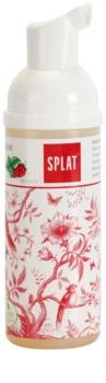 Splat 2 in 1 Raspberry Schaum zur Mundhygiene 2 in 1 zum Reinigen von Zähnen und Zahnfleisch ohne Zahnbürste und Wasser