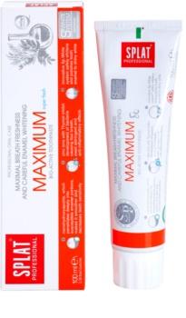 Splat Professional Maximum pasta dentífrica bioactiva para un aliento super fresco y un suave blanqueamiento dental