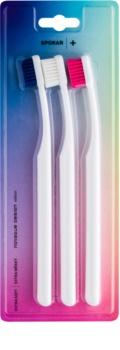 Spokar Plus Zahnbürste extra soft 3 pc