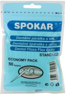 Spokar Dental Care Zahnstocher mit Zahnseide