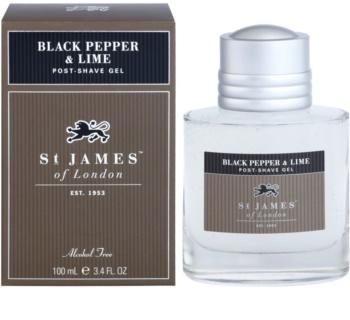 St. James Of London Black Pepper & Persian Lime borotválkozás utáni gél uraknak 100 ml