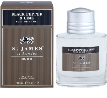St. James Of London Black Pepper & Persian Lime gel po holení pro muže 100 ml