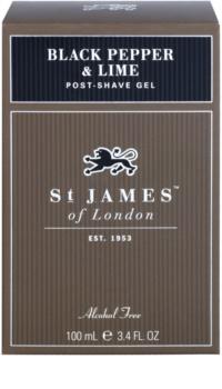 St. James Of London Black Pepper & Persian Lime After-Shave Gel für Herren 100 ml