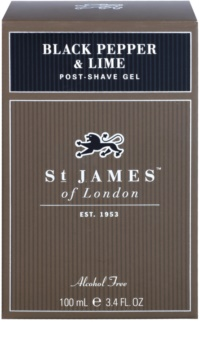 St. James Of London Black Pepper & Persian Lime gel après-rasage pour homme 100 ml