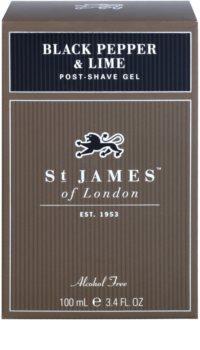 St. James Of London Black Pepper & Persian Lime gel après-rasage pour homme 100 ml
