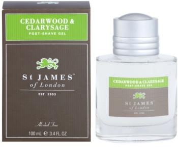 St. James Of London Cedarwood & Clarysage gél po holení pre mužov 100 ml