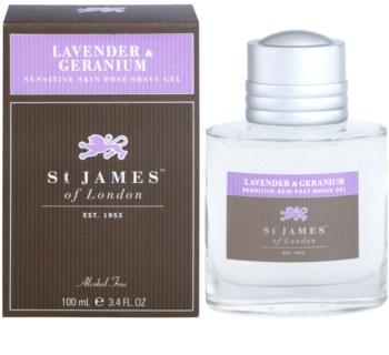 St. James Of London Lavender & Geranium żel po goleniu dla mężczyzn 100 ml