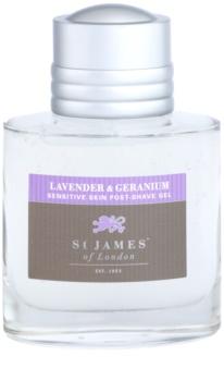 St. James Of London Lavender & Geranium gel après-rasage pour homme 100 ml