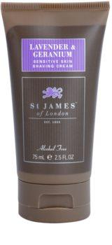 St. James Of London Lavender & Geranium crema da barba per uomo 75 g confezione da viaggio