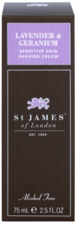 St. James Of London Lavender & Geranium Shaving Cream for Men 75 g Travel Packaging