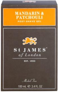 St. James Of London Mandarin & Patchouli żel po goleniu dla mężczyzn 100 ml