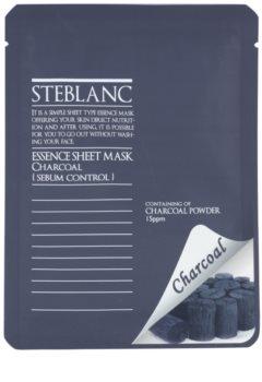 Steblanc Essence Sheet Mask Charcoal mascarilla limpiadora para pieles grasas