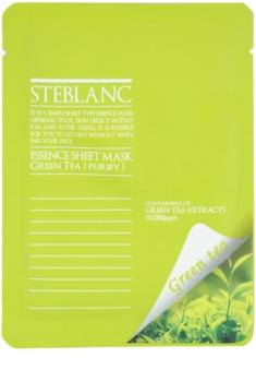 Steblanc Essence Sheet Mask Green Tea oczyszczająca i łagodząca maseczka do twarzy