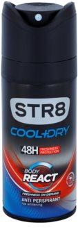 STR8 Cool & Dry Body React Deo Spray voor Mannen 150 ml