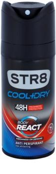 STR8 Cool & Dry Body React deospray pro muže 150 ml