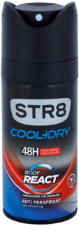 STR8 Cool & Dry Body React desodorante en spray para hombre 150 ml