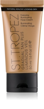 St.Tropez Gradual Tan Plus Luminous Veil creme facial de  bronzeamento gradual