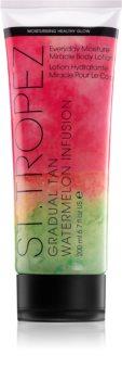 St.Tropez Gradual Tan Watermelon Infusion creme corporal autobronzeador de  bronzeamento gradual