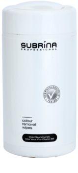 Subrina Professional Colour Toalhitas de limpeza para remover coloração da pele