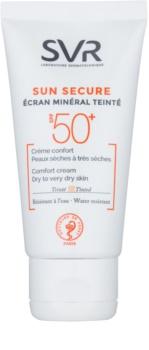 SVR Solaires loção tonificante mineral para a pele seca a muito seca SPF 50