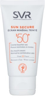 SVR Solaires Creme mineral matizado para pele normal a mista SPF 50+